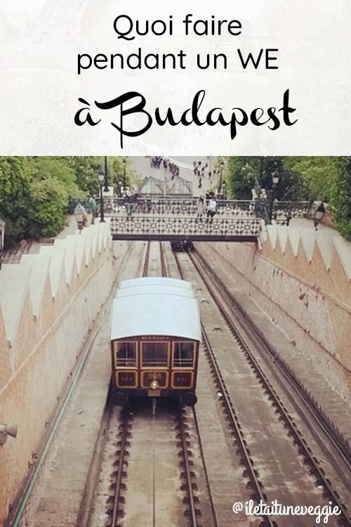 quoi faire WE à Budapest