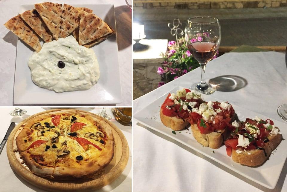 Séjour à Zante, Restaurant AVLI - Tsilivi il etait une veggie