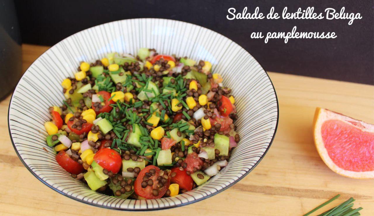 salade de lentilles beluga au pamplemousse par iletaituneveggie.com