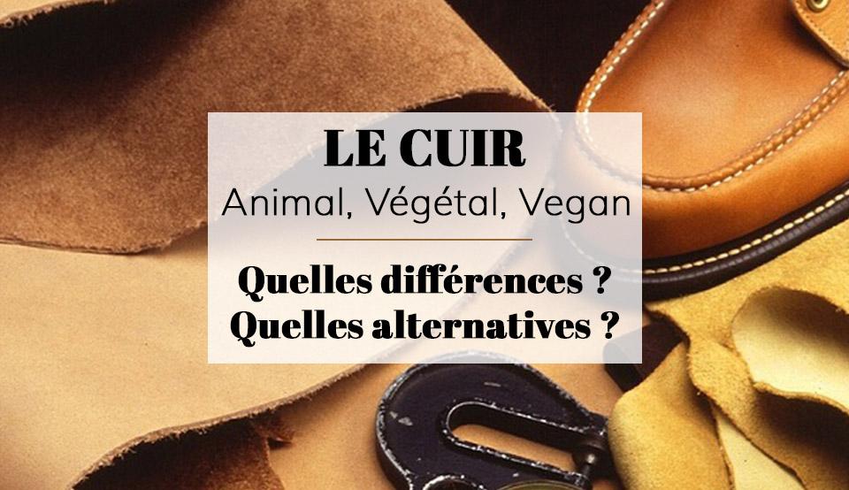 Alternatives au cuir par il etait une veggie