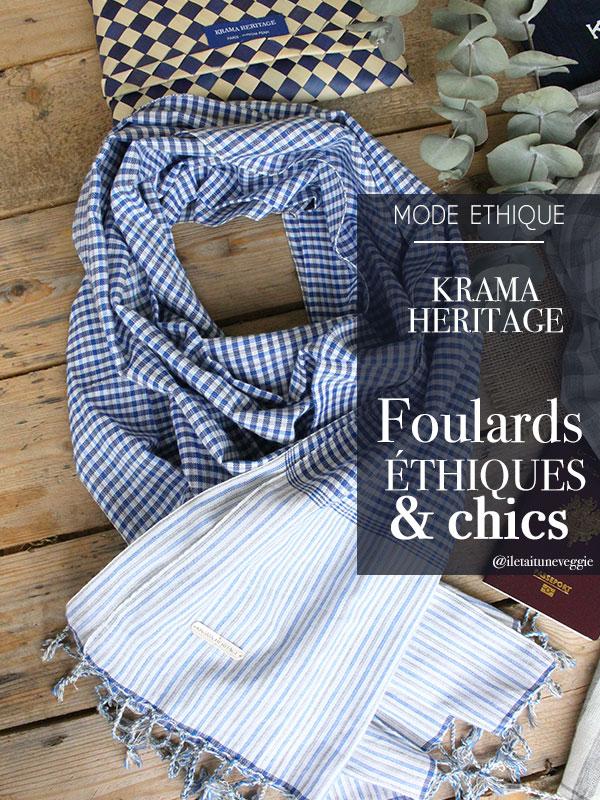 Krama Heritage foulard mode ethique par il etait une veggie