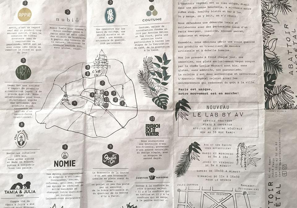 carte producteurs locaux de l'abattoir végétal
