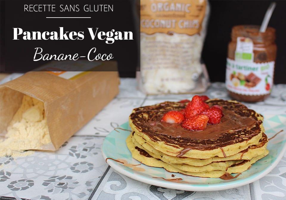 recette vegan recette sans gluten pancakes banane coco par il etait une veggie