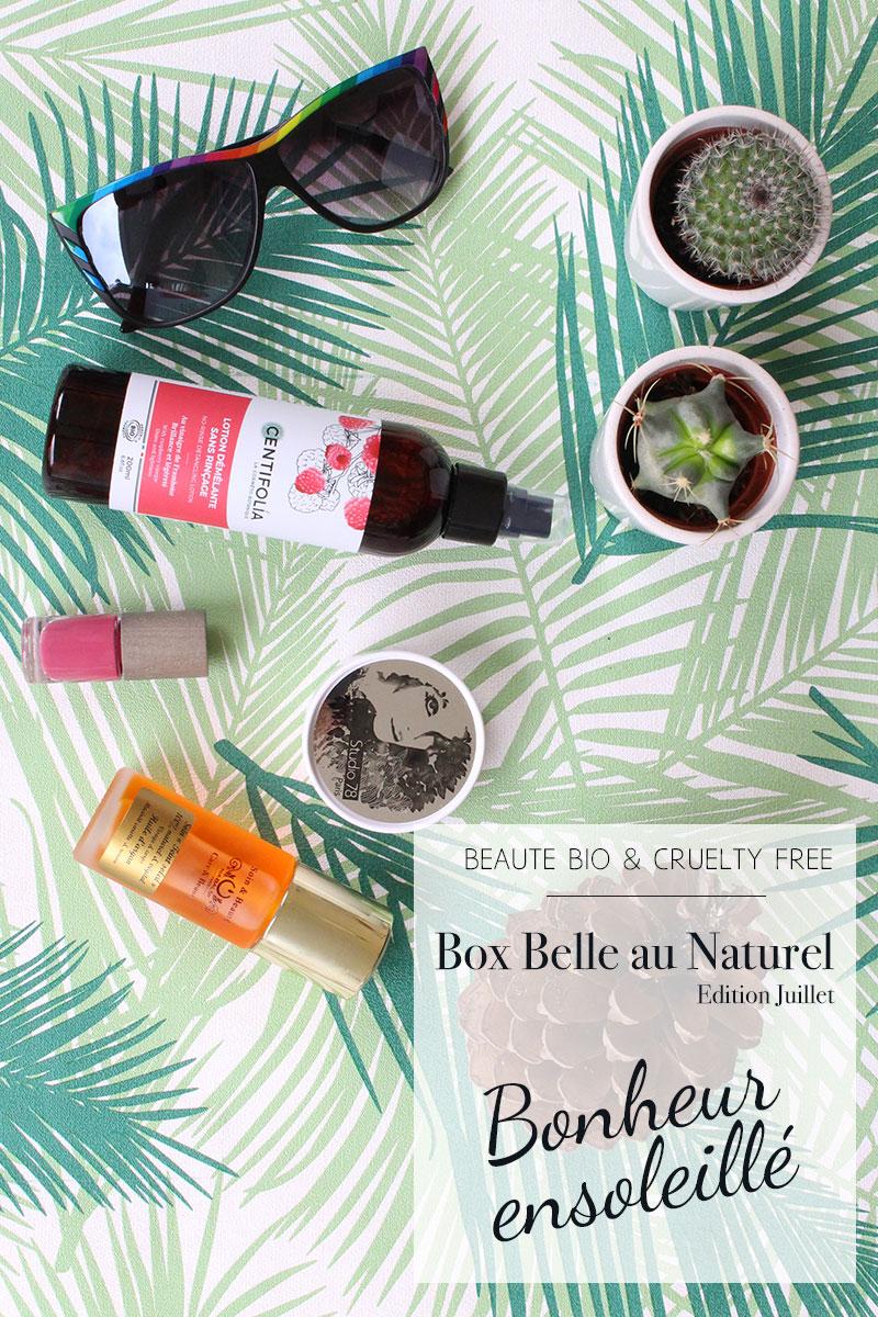 Produits de beauté bio contenus dans la box Belle au naturel de juillet