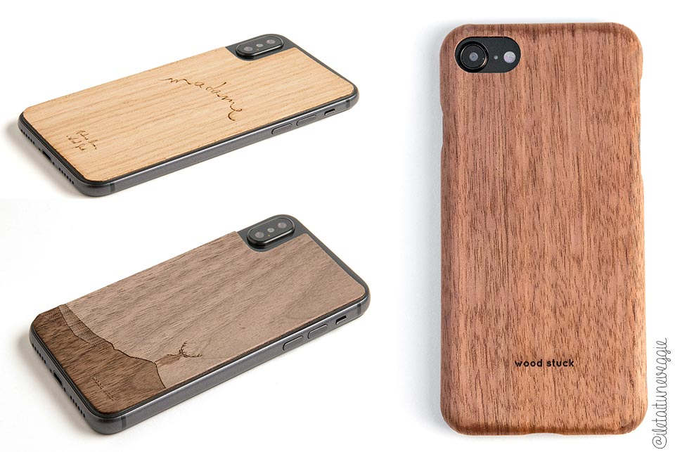 coque telephone ecolo wood stuck