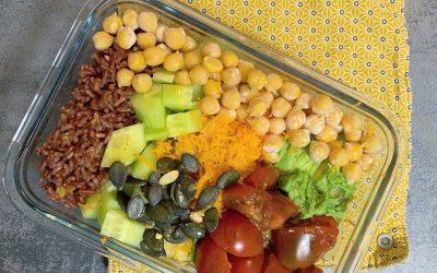 Idée recette Lunch box vegan équilibrée pour déjeuner au bureau