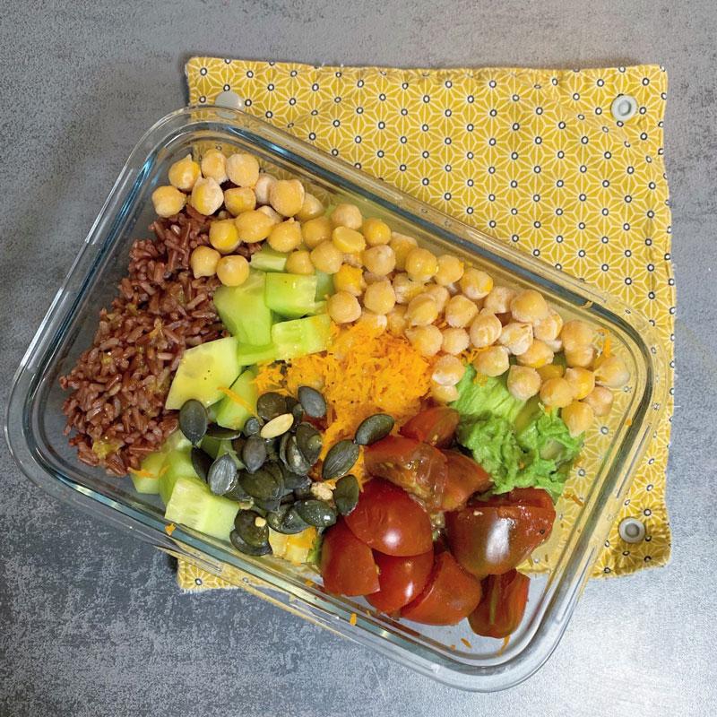 idée lunch box vegan équilibrée