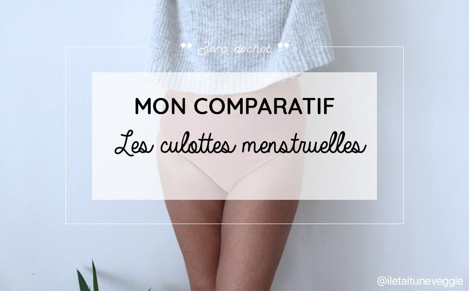 Comparatif culottes menstruelles par il etait une veggie