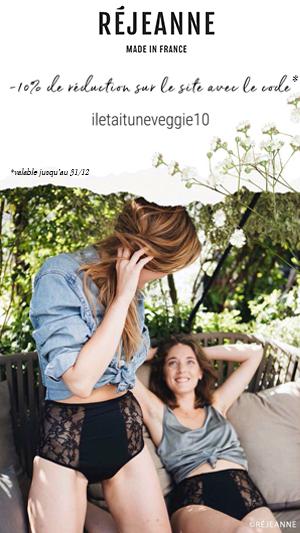 Code promo Rejeanne culotte de regle
