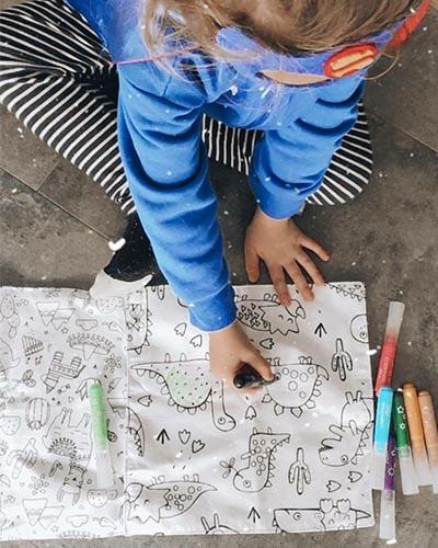coffret cadeau enfant coloriage zero dechet