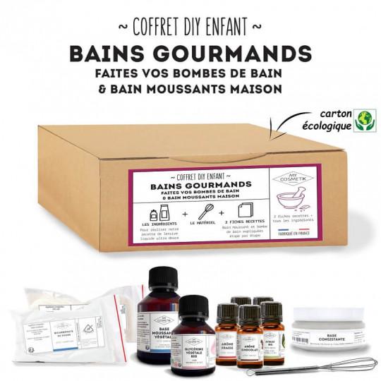 coffret cadeau ecolo DIY cosmetique maison boule de bain